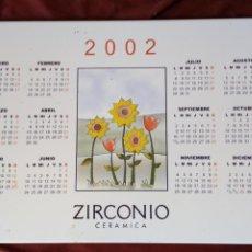 Vintage: CALENDARIO DE 2002 EN AZULEJO ZIRCONIO CERÁMICA MADE IN SPAIN. Lote 194608613