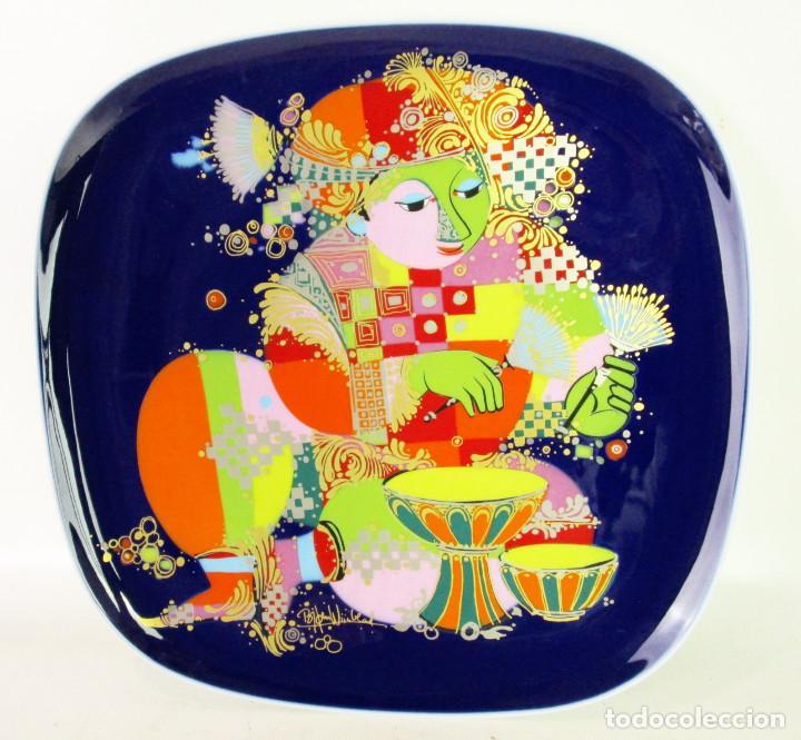 PLATO CERAMICA ROSENTHAL STUDIO LINIE BJORN WIINBLAD SERIE AÑOS 50 PAYPAL FACTURA (Vintage - Decoración - Porcelanas y Cerámicas)