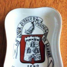 Vintage: PLATO PORCELANA FRANCESA. MODELO EXCLUSIVO RESTAURANTE LA TOUR D´ARGENT 10X7 CM . Lote 194710082