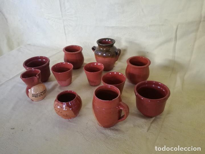 GRAN LOTE DE PIEZAS DE BARRO COCIDO, JARRAS, JARRONES, ETC... (Vintage - Decoración - Porcelanas y Cerámicas)