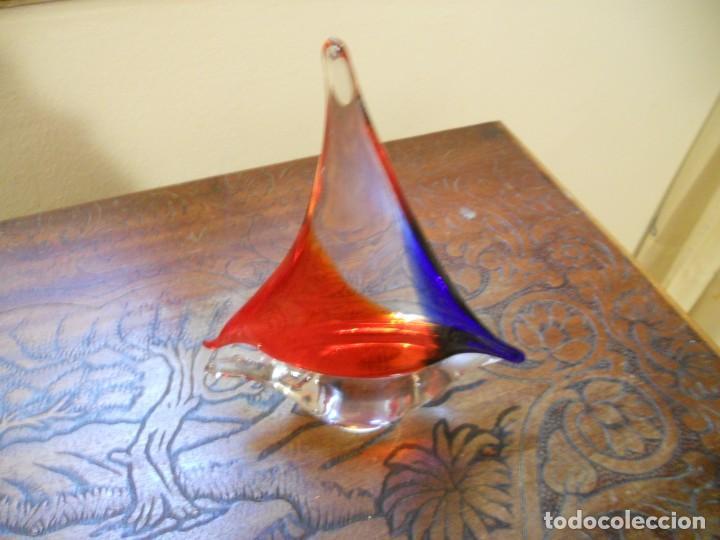 PRECIOSO BARCO DE CRISTAL MURANO TRABAJADO A MANO (Vintage - Decoración - Cristal y Vidrio)