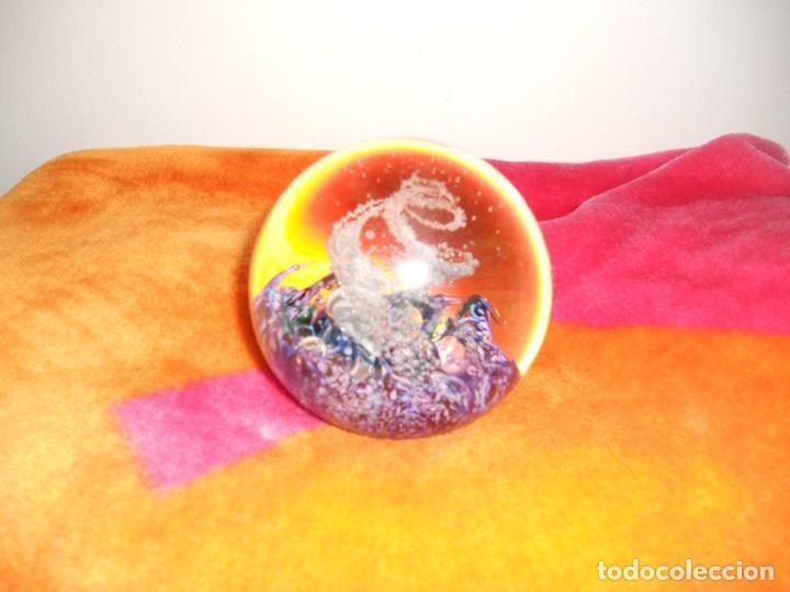 IMPRESIONANTE BOLA DE CRISTAL SELKRK GLASS FIRMADA (Vintage - Decoración - Cristal y Vidrio)