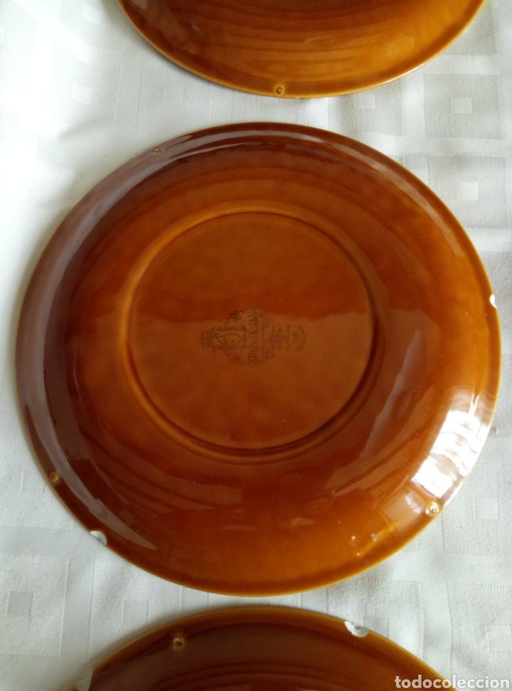 Vintage: 6 platos llanos Pontesa color caramelo - Foto 5 - 194931378