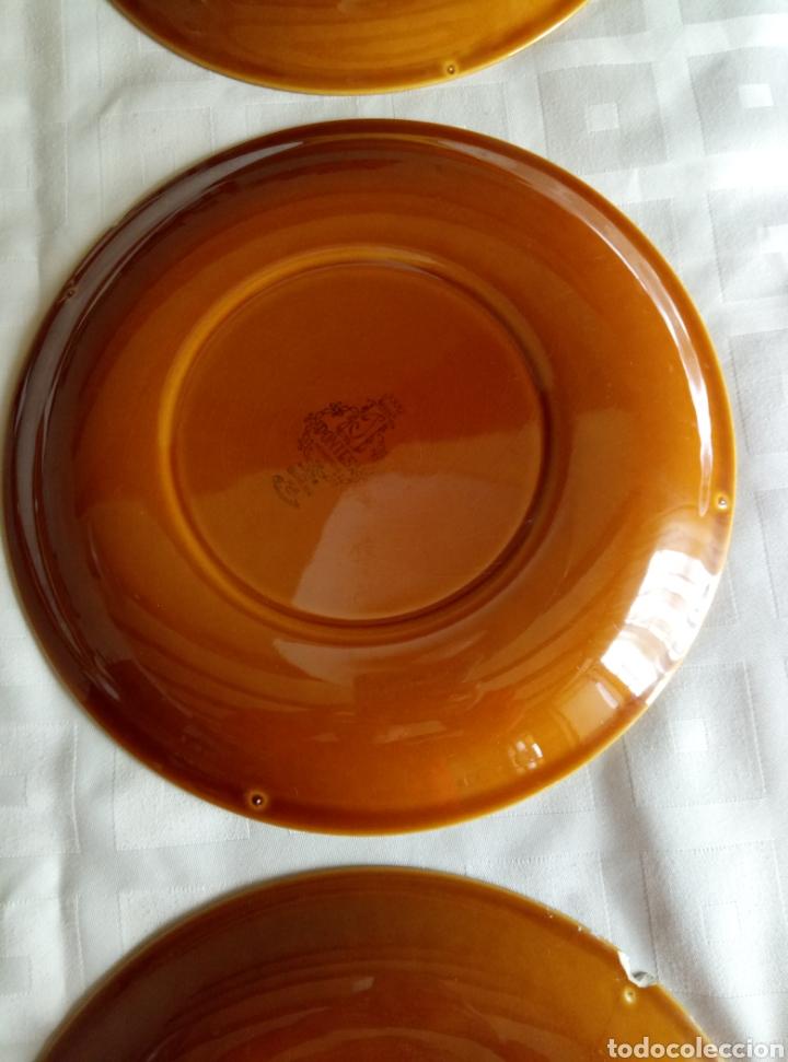 Vintage: 6 platos llanos Pontesa color caramelo - Foto 6 - 194931378