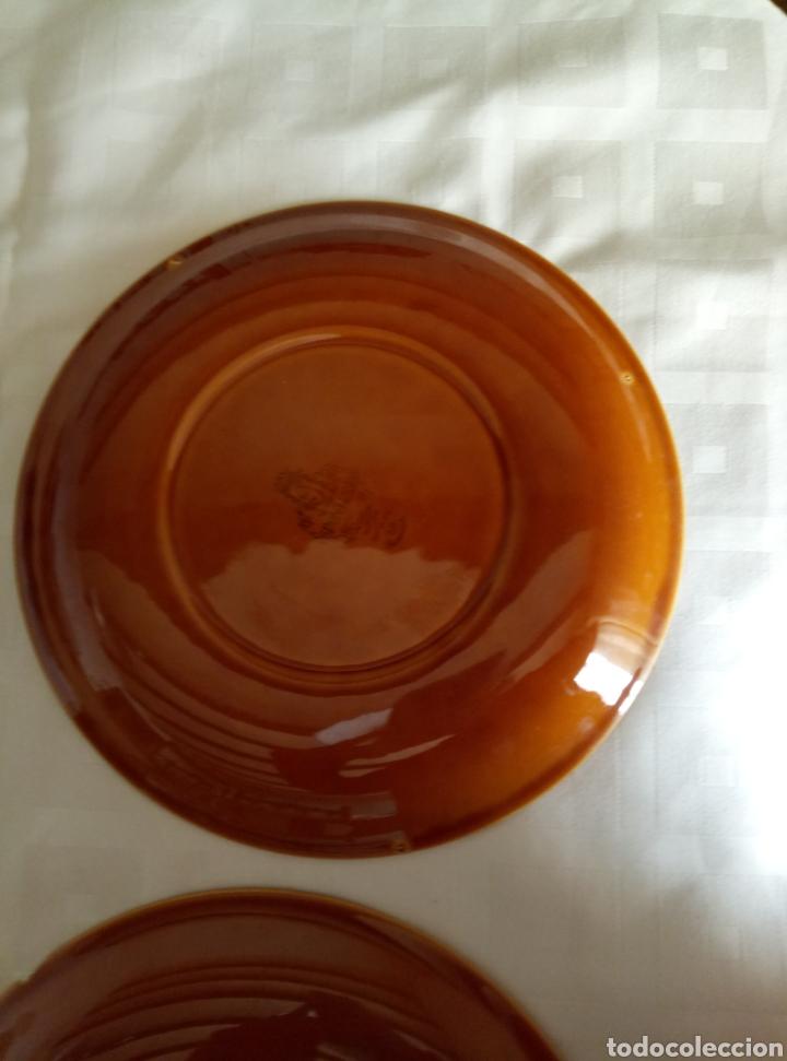 Vintage: 6 platos llanos Pontesa color caramelo - Foto 7 - 194931378