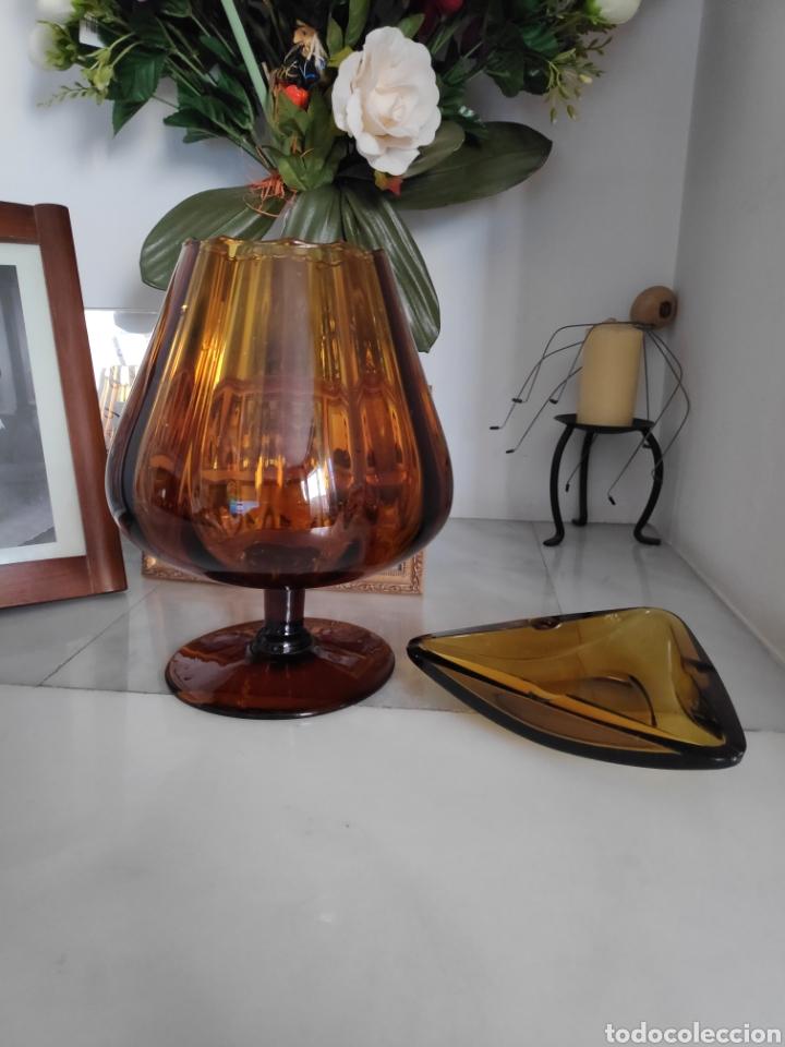 GRAN COPA Y CENICERO VINTAGE (Vintage - Decoración - Cristal y Vidrio)