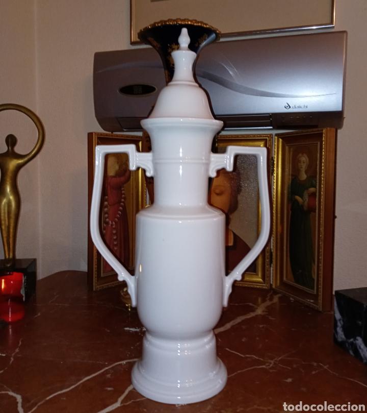 Vintage: JARRON - TIBOR DE PORCELANA DE MANISES - VINTAGE - AÑOS 1960 - PORCELANA ESMALTADA - - Foto 7 - 195135218