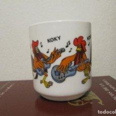 Vintage: TAZA DE LOZA DE LOS TROTAMÚSICOS \ GALLO KOKY \ CRUZ DELGADO \ ARCOPAL - FRANCE (1989) MUY DIFICIL . Lote 195153345