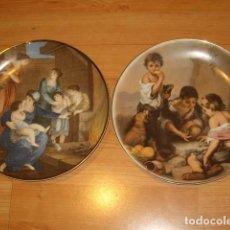 Vintage: 2 PLATOS PARA COLGAR DE PORCELANA CAPEANS.. Lote 195249372
