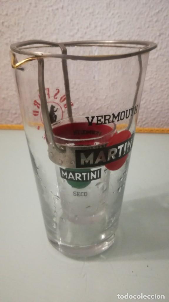 COCTELERA MARTINI CON ACCESORIO VER FOTOS (Vintage - Decoración - Cristal y Vidrio)