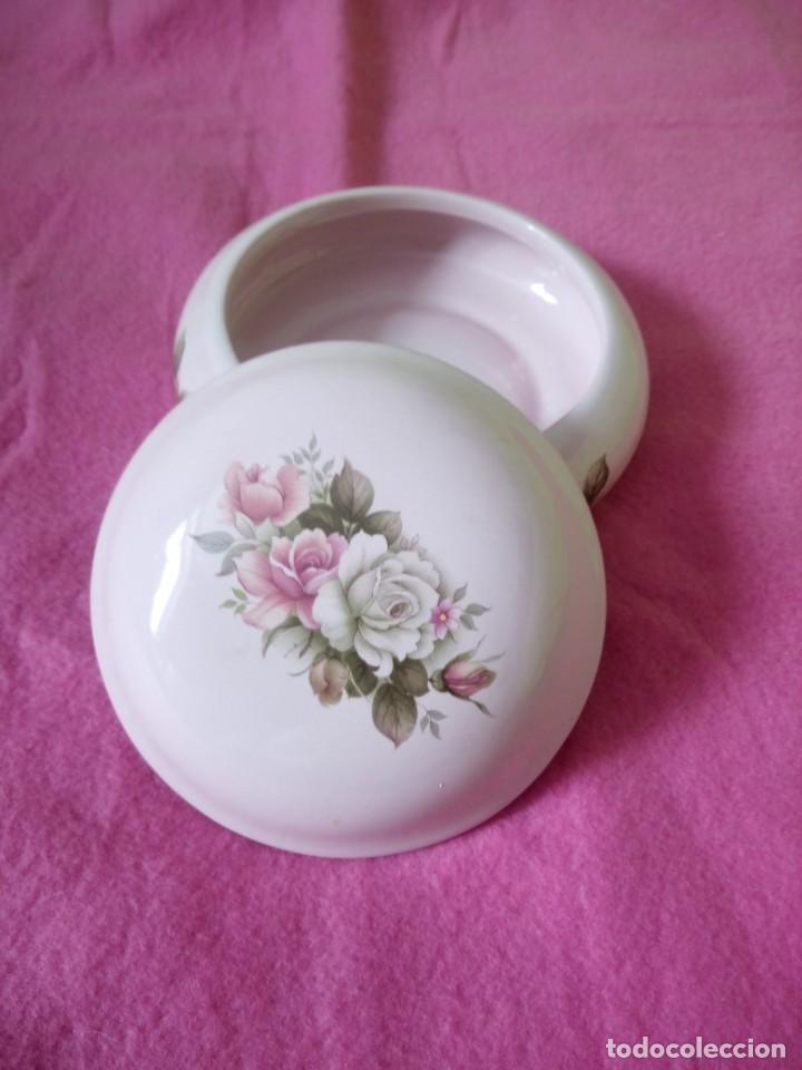 Vintage: Precioso joyero de porcelana color roda con rosas, dueffe pi milano - Foto 4 - 195329446