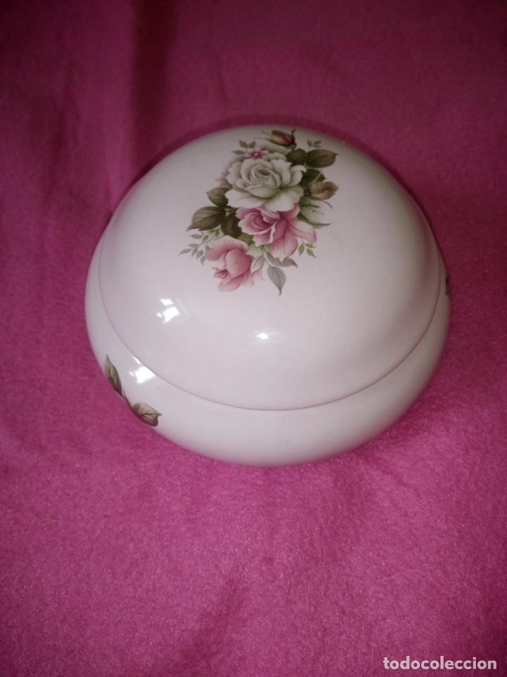 Vintage: Precioso joyero de porcelana color roda con rosas, dueffe pi milano - Foto 7 - 195329446