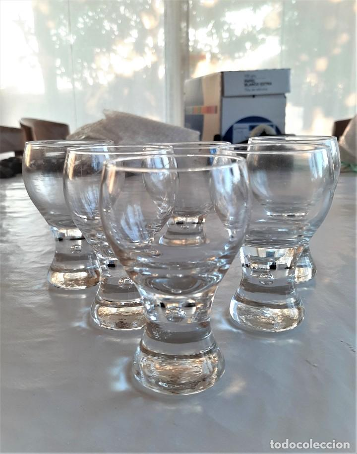 6 COPAS PARA LICOR DE CRISTAL. VINTAGE, AÑOS 70. (Vintage - Decoración - Cristal y Vidrio)