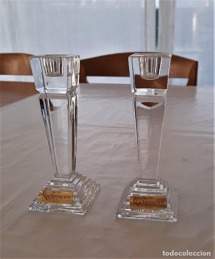 Vintage: 2 Portavelas candelabro Vintage Nachtmann Crystal Double - Foto 6 - 195342307