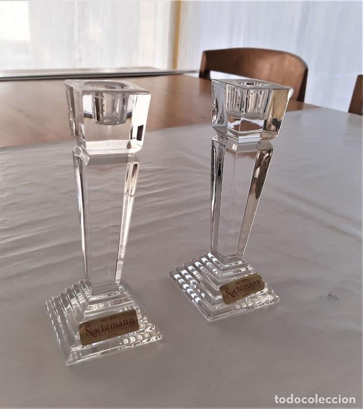 Vintage: 2 Portavelas candelabro Vintage Nachtmann Crystal Double - Foto 3 - 195342307