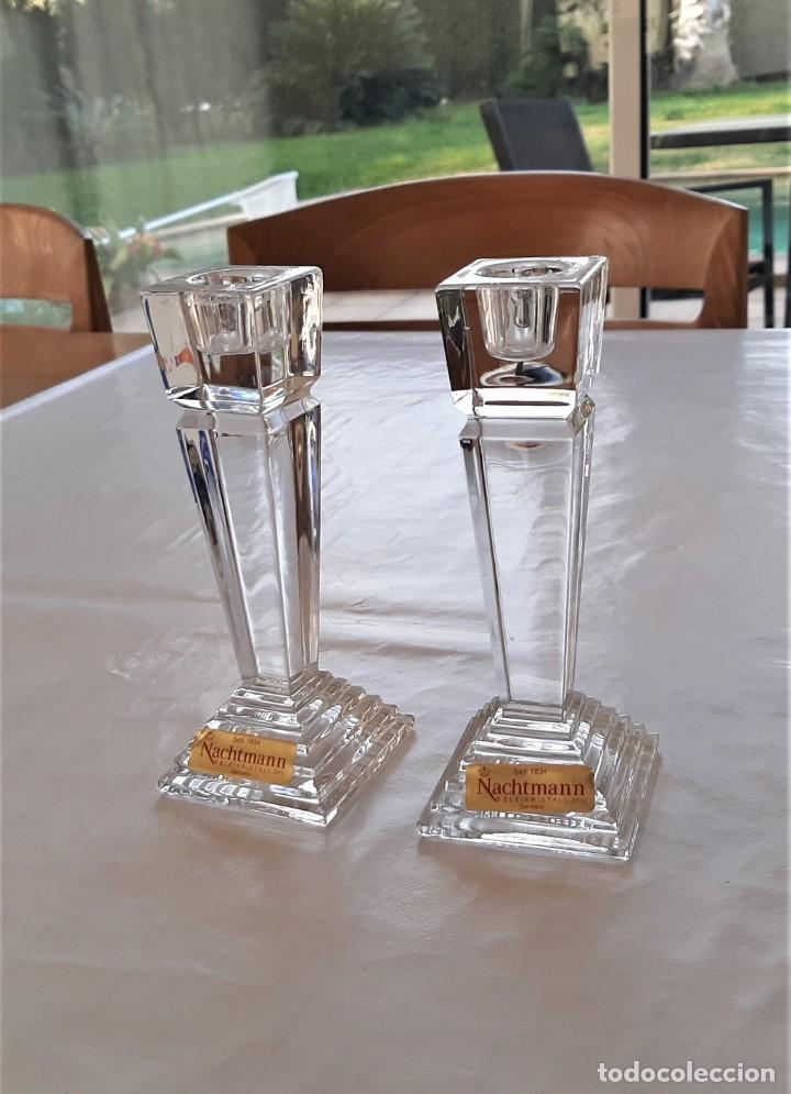 Vintage: 2 Portavelas candelabro Vintage Nachtmann Crystal Double - Foto 4 - 195342307