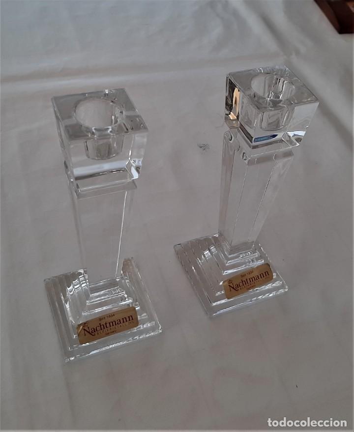 Vintage: 2 Portavelas candelabro Vintage Nachtmann Crystal Double - Foto 5 - 195342307
