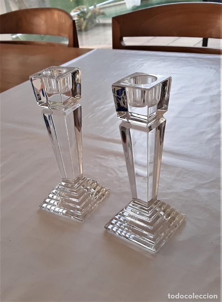 Vintage: 2 Portavelas candelabro Vintage Nachtmann Crystal Double - Foto 2 - 195342307