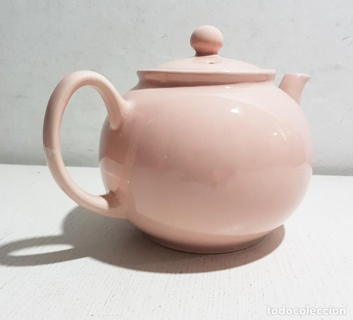 PRISTINE ENGLAND COMPANY/TETERA ROSA PASTEL -4 TAZAS (Vintage - Decoración - Porcelanas y Cerámicas)
