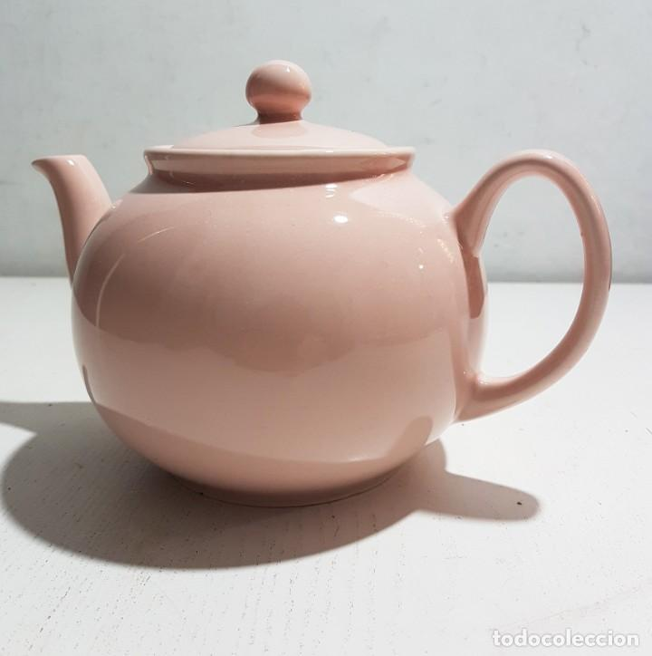 Vintage: Pristine England Company/Tetera rosa pastel -4 tazas - Foto 2 - 195345360