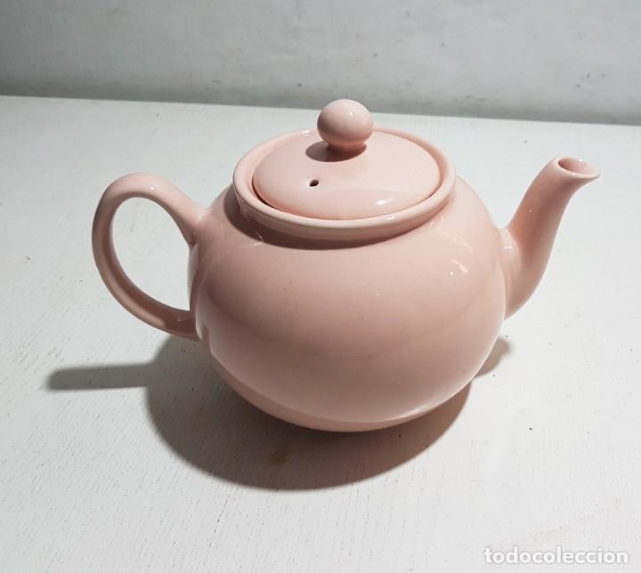 Vintage: Pristine England Company/Tetera rosa pastel -4 tazas - Foto 4 - 195345360