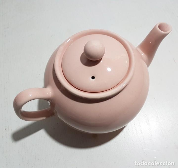 Vintage: Pristine England Company/Tetera rosa pastel -4 tazas - Foto 5 - 195345360