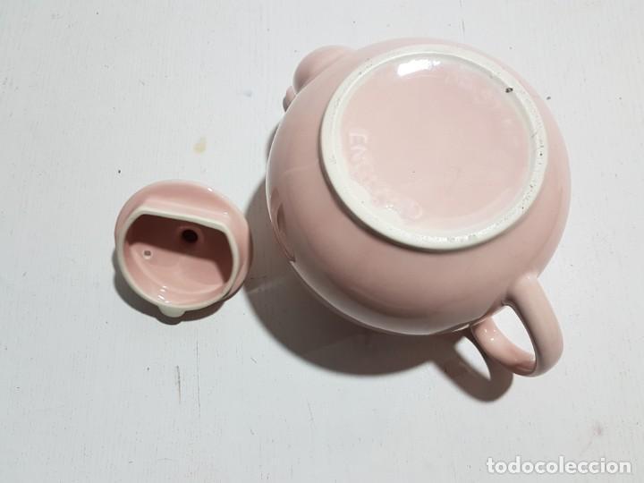 Vintage: Pristine England Company/Tetera rosa pastel -4 tazas - Foto 8 - 195345360