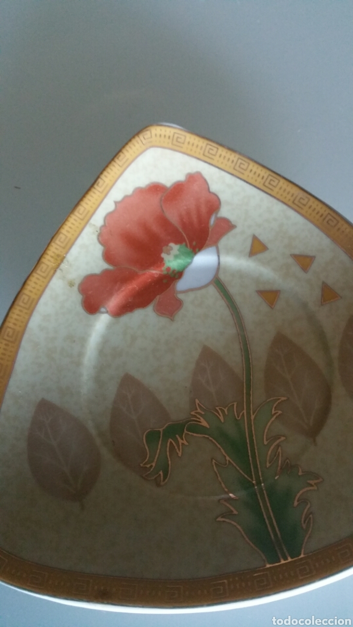 Vintage: Conjunto de 5 platos pequeños de cerámica, YAMASEN. - Foto 3 - 195372348