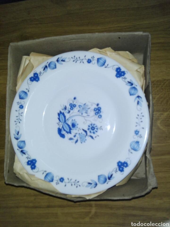 LOTE 6 PLATOS HONDOS VINTAGE FRANCÉS (Vintage - Decoración - Porcelanas y Cerámicas)