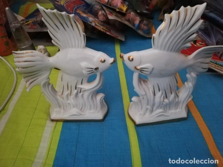 FIGURAS PORCELANA PECES DECORATIVOS (Vintage - Decoración - Porcelanas y Cerámicas)