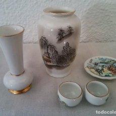 Vintage: LOTE JARRÓN MADE IN JAPAN ÁNFORA ROSENTHAL TACITAS PLATO PORCELANA. Lote 195394071