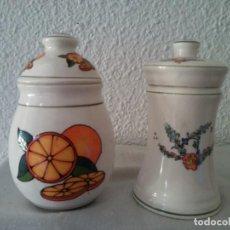 Vintage: LOTE TARROS ESPECIEROS DE CERÁMICA RAMSEL HAMBURG. Lote 195395640