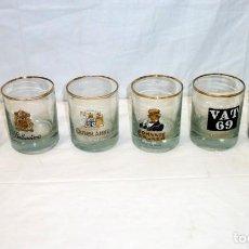 Vintage: 6 VASOS CON 6 MARCAS DIFERENTES DE WHISKY.. Lote 195435877