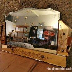 Vintage: ESPEJO ITALIANO DE VIDRIO, AÑOS 40. Lote 195533228