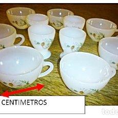 Vintage: 7 TAZAS PORCELANA BLANCA OPACA. Y 4 HUEVERAS.. Lote 196841043