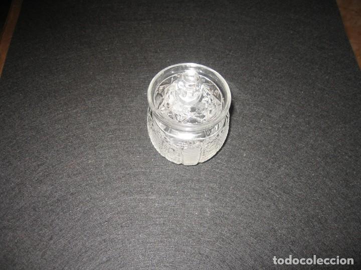 MINI BOMBONERA CON FILIGRANAS EN RELIEVE (Vintage - Decoración - Cristal y Vidrio)