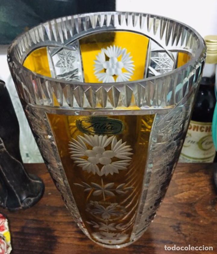 Vintage: Florero Cristal Plomado Julia - Foto 2 - 197260125