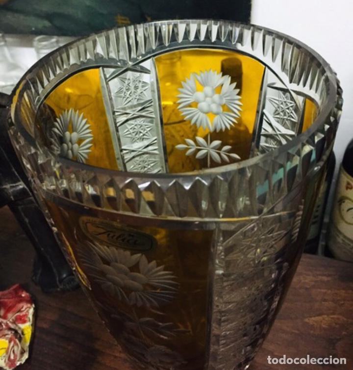 Vintage: Florero Cristal Plomado Julia - Foto 4 - 197260125