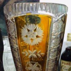 Vintage: FLORERO CRISTAL PLOMADO JULIA. Lote 197260125
