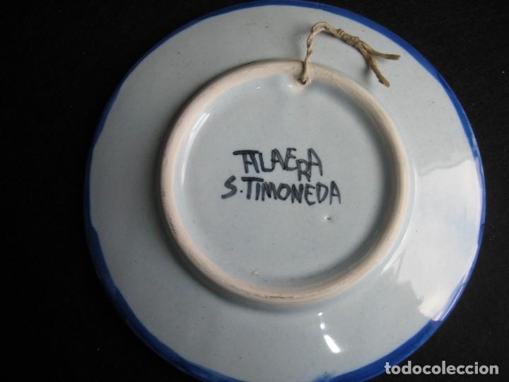 Vintage: PLATO DE TALAVERA EN CERÁMICA DE S. TIMONEDA - Foto 3 - 197263858