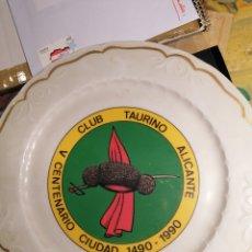 Vintage: CLUB TAURINO DE ALICANTE PLATO V CENTENARIO DE LA CIUDAD 1490-1990. Lote 197403848
