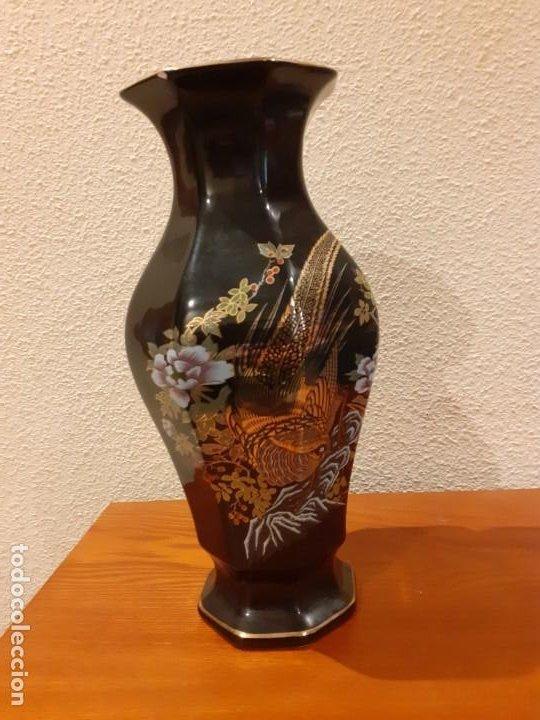 JARRON DE MOTIVOS ORIENTALES (Vintage - Decoración - Jarrones y Floreros)
