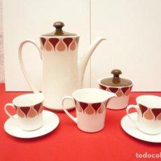 Vintage: JUEGO DE CAFÉ TU Y YO ROYAL CHINA VIGO. VINTAGE. Lote 200084428