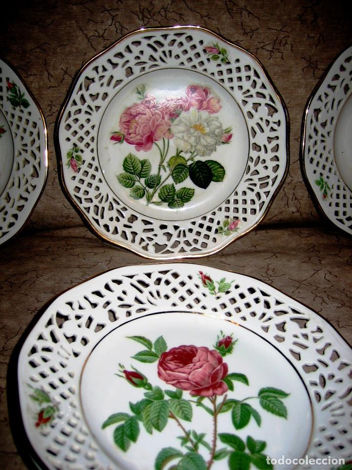 Vintage: COLECCION PLATOS LAS ROSAS DE REDOUTE- 6- Bavaria Schuman- perfecto estado- - Foto 2 - 200619547