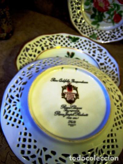 Vintage: COLECCION PLATOS LAS ROSAS DE REDOUTE- 6- Bavaria Schuman- perfecto estado- - Foto 4 - 200619547