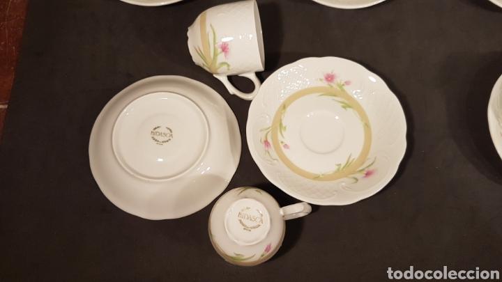 Vintage: Lote de tazas de café y platos. Marca Bidasoa, años 70, con decoración floral en tazas y platos - Foto 5 - 200806637