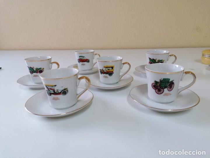 Vintage: Tazas y Platos de Porcelana Decoración Coches Antiguos. - Foto 2 - 200828442