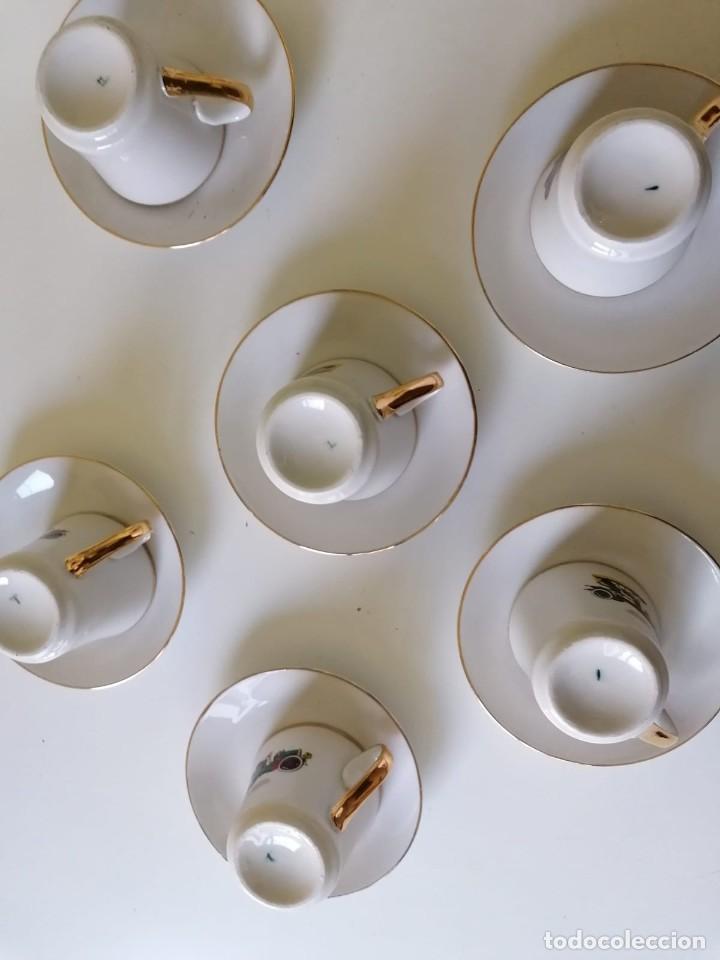 Vintage: Tazas y Platos de Porcelana Decoración Coches Antiguos. - Foto 3 - 200828442