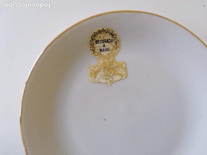 Vintage: Tazas y Platos de Porcelana Decoración Coches Antiguos. - Foto 5 - 200828442