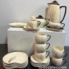 Vintage: CARLTON WARE. JUEGO DE CAFÉ Y POSTRE.. Lote 202791127